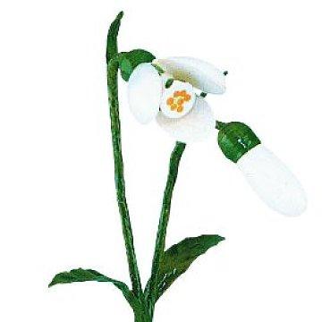 Blumenmädchen mit Schneeglöckchen