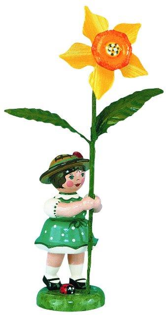 Blumenmädchen mit Narzisse