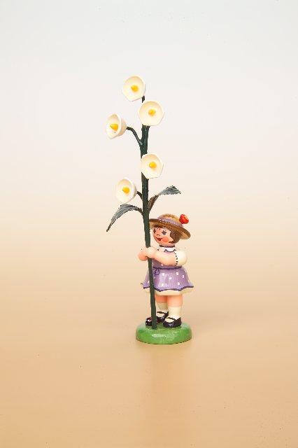 Blumenmädchen mit Maiglöckchen