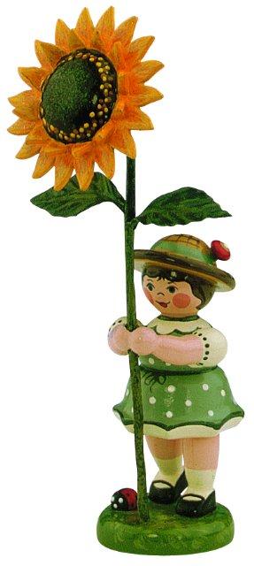 Blumenmädchen mit Sonnenblume