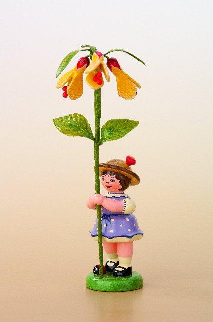 Blumenmädchen mit Schönmalve