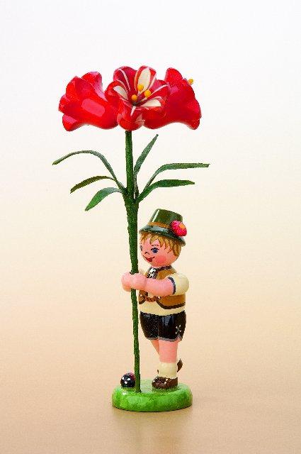 Blumenjunge mit Amarylis