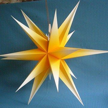 Annaberger Faltstern gelb-weiss 60 cm