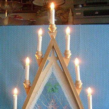 Lichterspitze mit Klöppeleinsatz