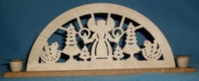 Mini-Schwibbogen Engel