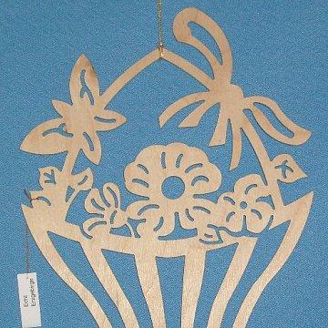 Fensterbild Blumenkorb
