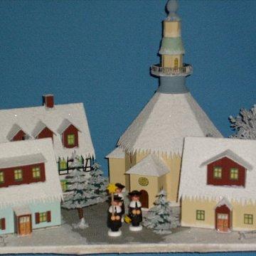 beleuchtetes Seiffener Weihnachtsdorf