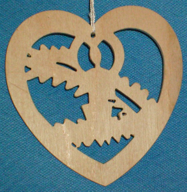 Baumbehang Herz mit Kerze auf Zweig