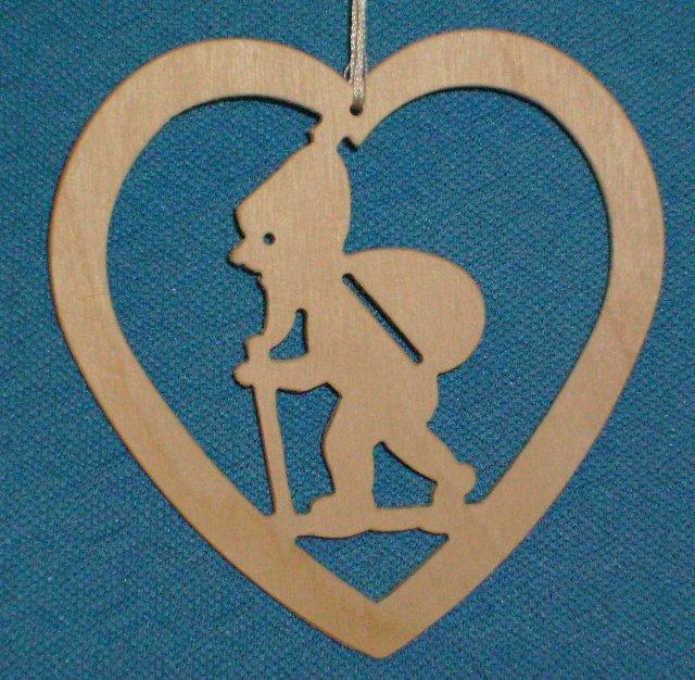 Baumbehang Herz mit Wichtel