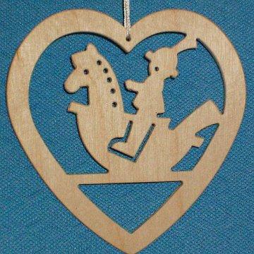 Baumbehang Herz mit Reiter