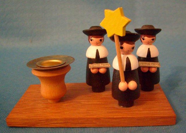 Kerzenhalter mit 3 Sternsänger