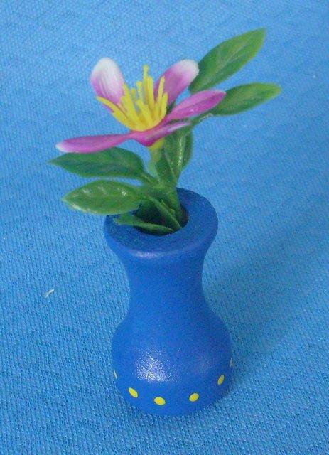 Blumenvase blau