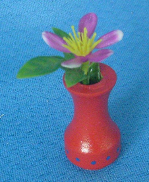 Blumenvase rot