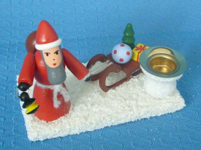 Kerzenhalter mit Weihnachtsmann