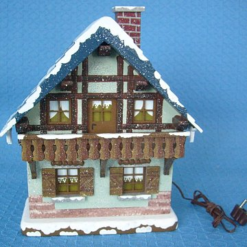 Winterhaus mit Balkon 14 cm