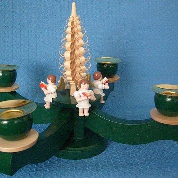 Adventsleuchter grün