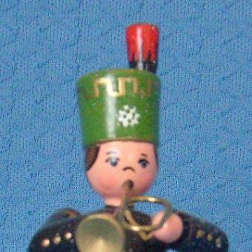 Bergmann mit Trompete