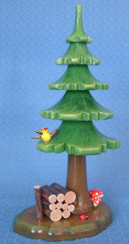 Sommerbaum mit Holzstapel 16 cm